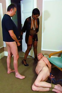 Mistress Ava Black - Hogtied Cuckold
