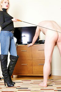 Strict domina releases her pent up anger on her toy slavewww