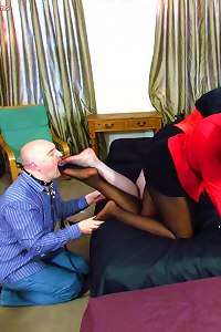 Mistress Ava Black and Goddess Cleo - Mouth Stuffing